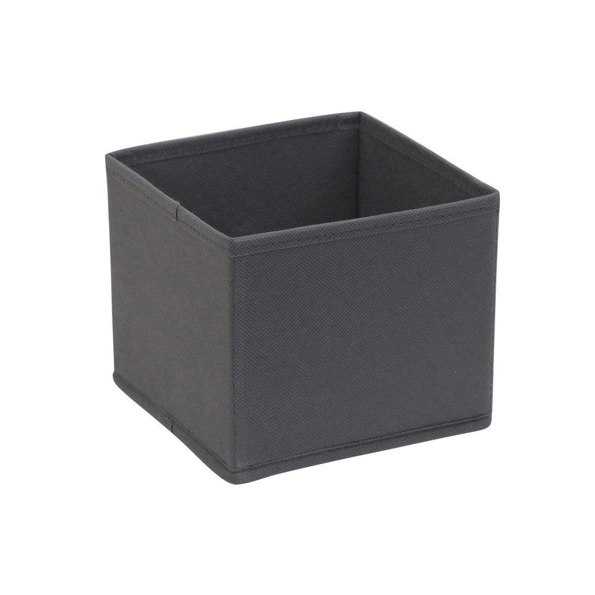 panier de rangement spaceo gris x x cm leroy merlin. Black Bedroom Furniture Sets. Home Design Ideas