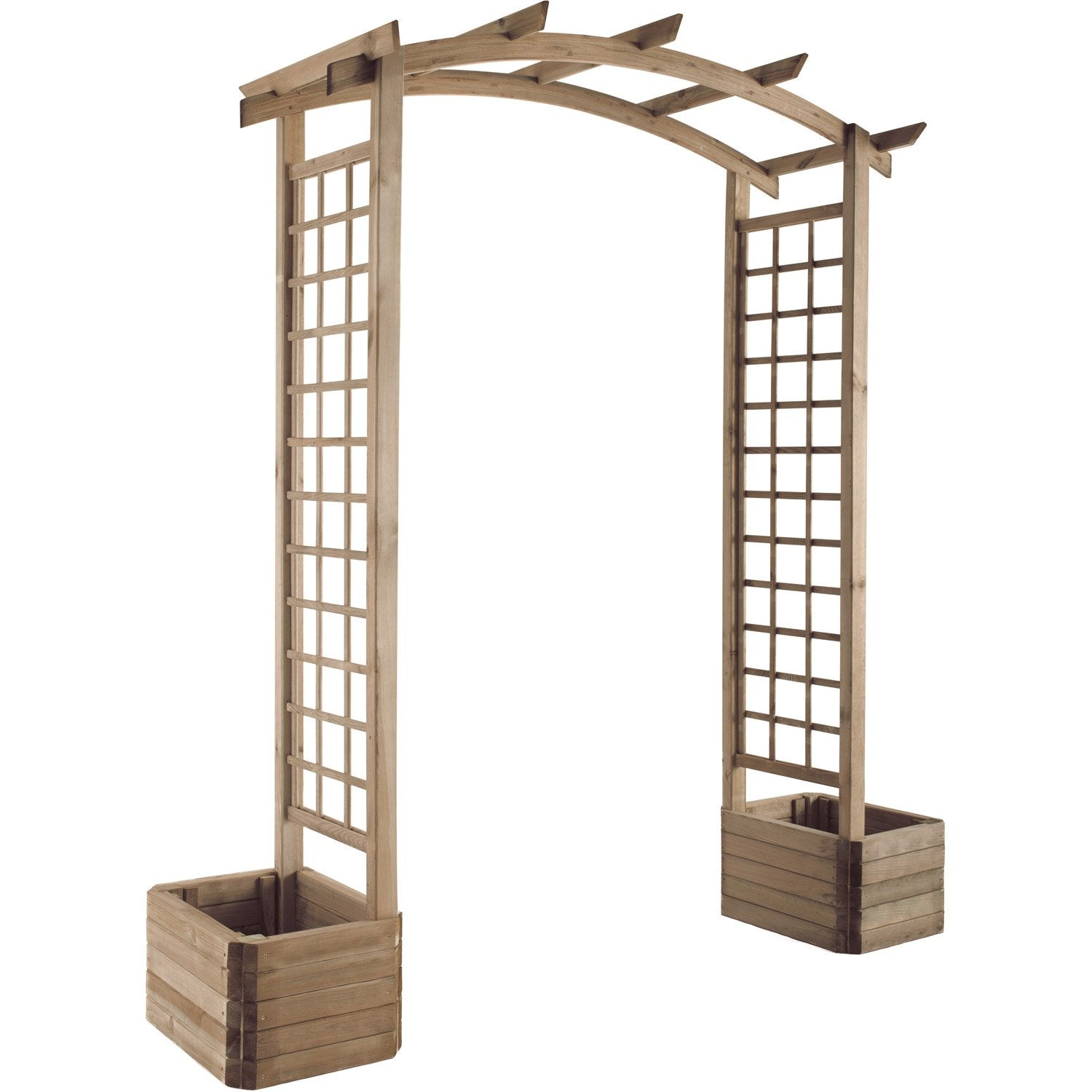 Pergola double burger sologne x x cm for Magasin de plantes pas cher