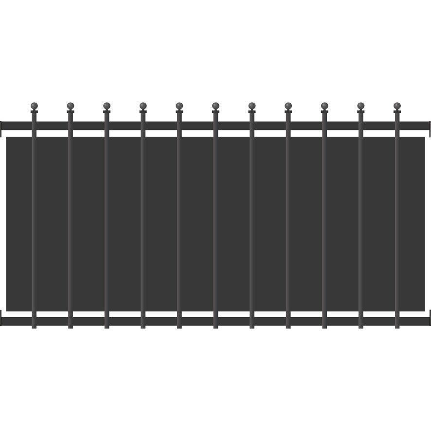 clôture - clôture aluminium, fer, bois, pvc   leroy merlin