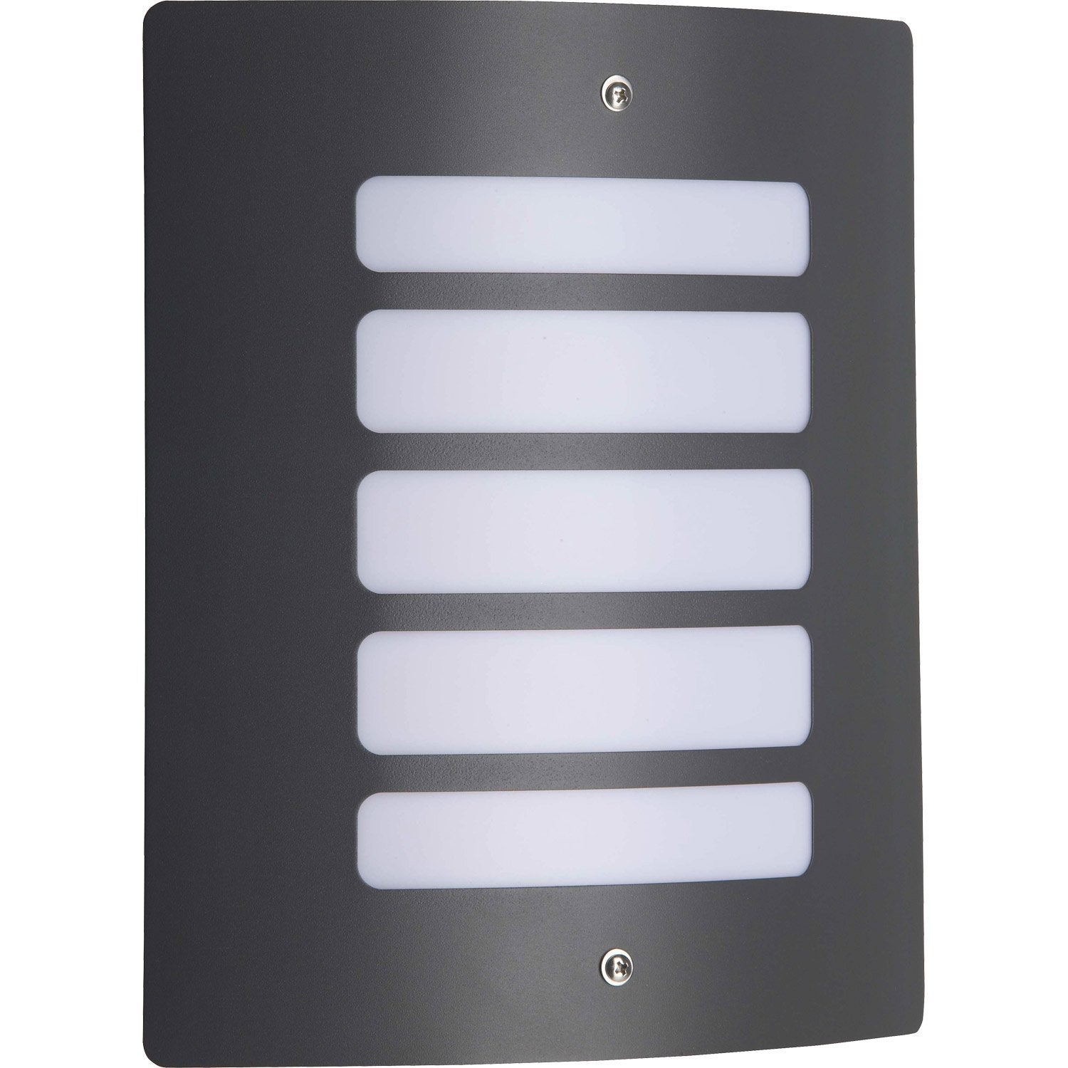 Demi applique ext rieure todd e27 60 w anthracite for Luminaire exterieur design leroy merlin