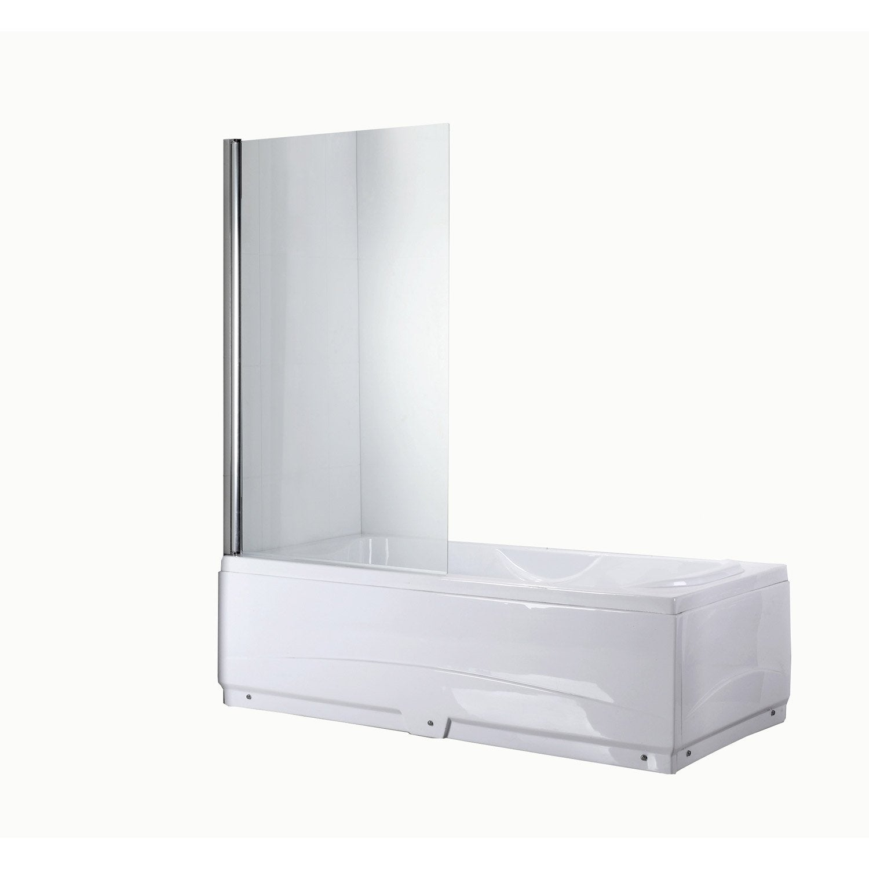 pare baignoire 1 volet quadro verre s curit 5 mm transparent leroy merlin. Black Bedroom Furniture Sets. Home Design Ideas