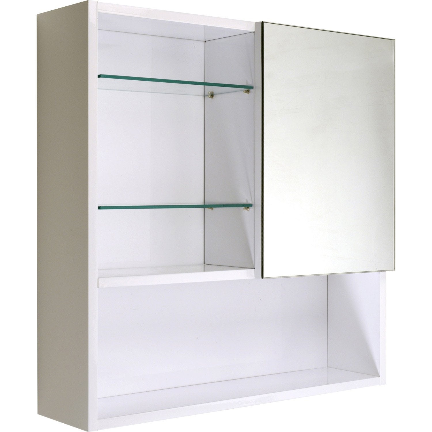 Armoire de toilette blanc cm simply leroy merlin for Petit toilette leroy merlin