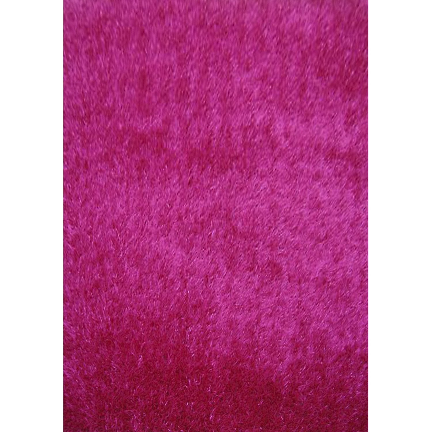 tapis shaggy lilou fuchsia 170x120 cm leroy merlin. Black Bedroom Furniture Sets. Home Design Ideas