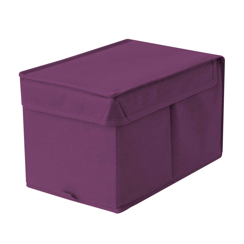 Bo te de rangement spaceo violet x x - Boite rangement leroy merlin ...