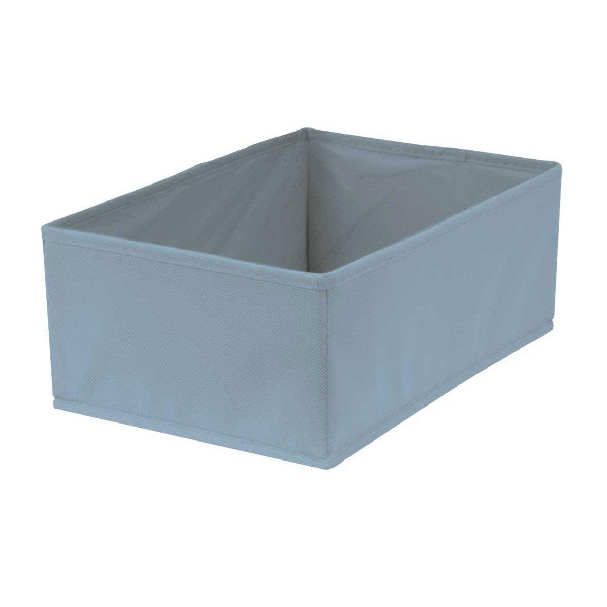 panier de rangement spaceo bleu x x cm leroy merlin. Black Bedroom Furniture Sets. Home Design Ideas