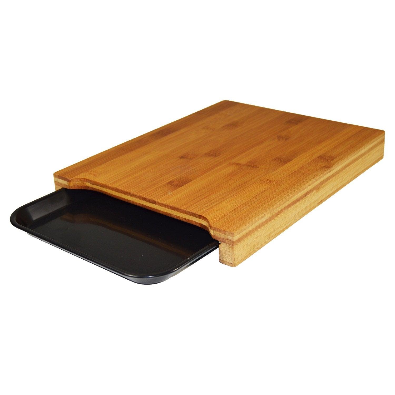 planche d couper avec plateau en bambou noir noir n 0 leroy merlin. Black Bedroom Furniture Sets. Home Design Ideas
