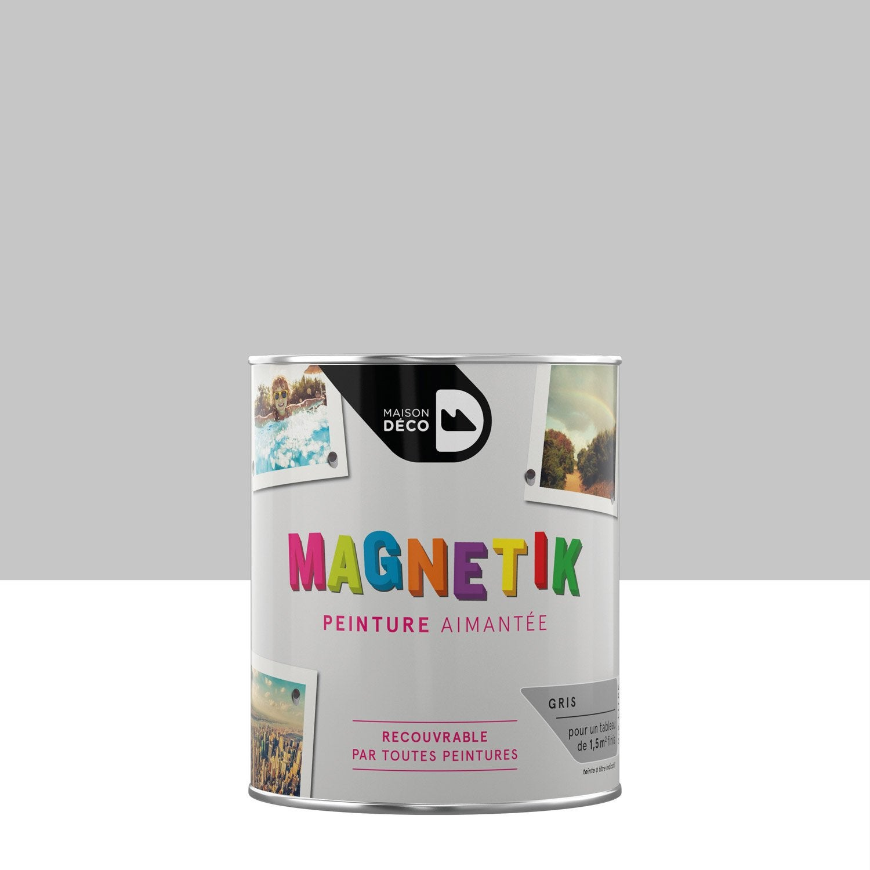 Peinture magn tique gris maison deco magn tik c 39 est g nial 0 5 l lero - Les decoratives leroy merlin ...