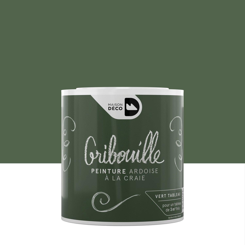 Peinture tableau craie vert maison deco gribouille 0 5 l - Tableau magnetique leroy merlin ...