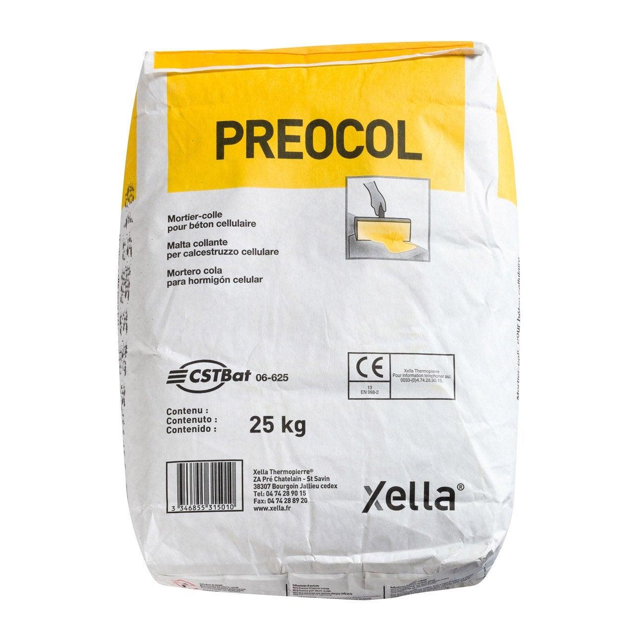 Mortier colle pour b ton cellulaire preocol preocol 25 kg leroy merlin - Colle beton cellulaire leroy merlin ...
