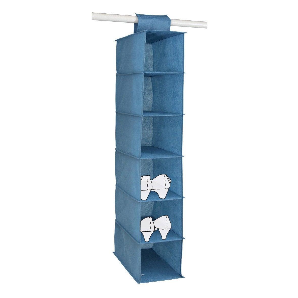 etag re suspendre 6 cases intiss bleu x x p. Black Bedroom Furniture Sets. Home Design Ideas