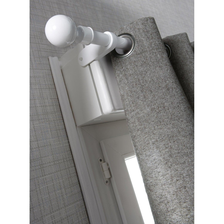 Support tringle rideau city 25 mm blanc ib leroy merlin - Leroy merlin tringle a rideau ...