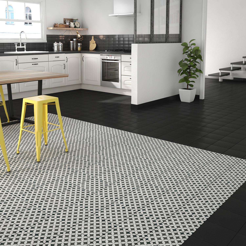 carrelage sol et mur noir blanc effet ciment gatsby x. Black Bedroom Furniture Sets. Home Design Ideas