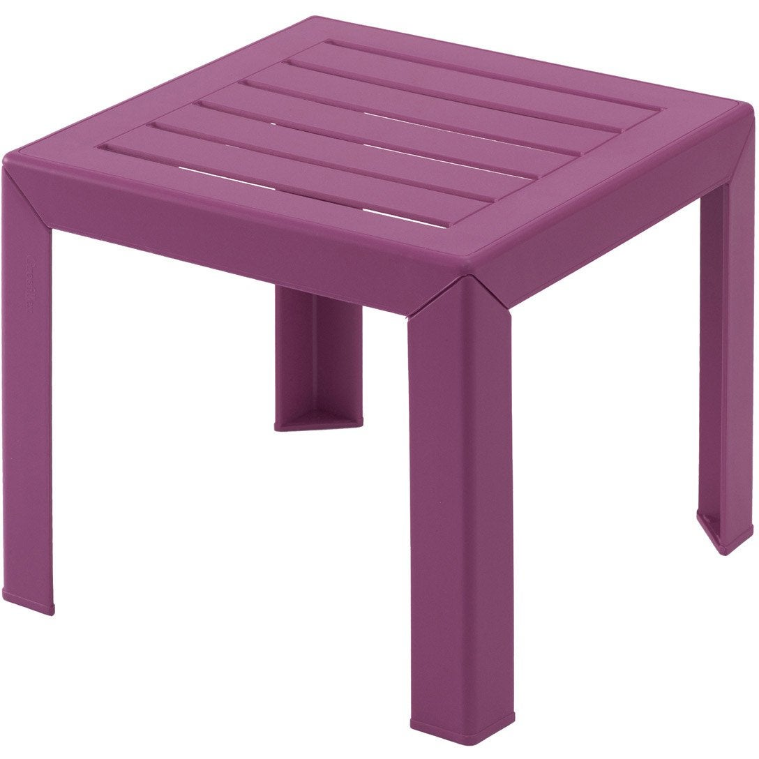 Table basse grosfillex miami carr e fuschia leroy merlin - Table jardin grofilex besancon ...