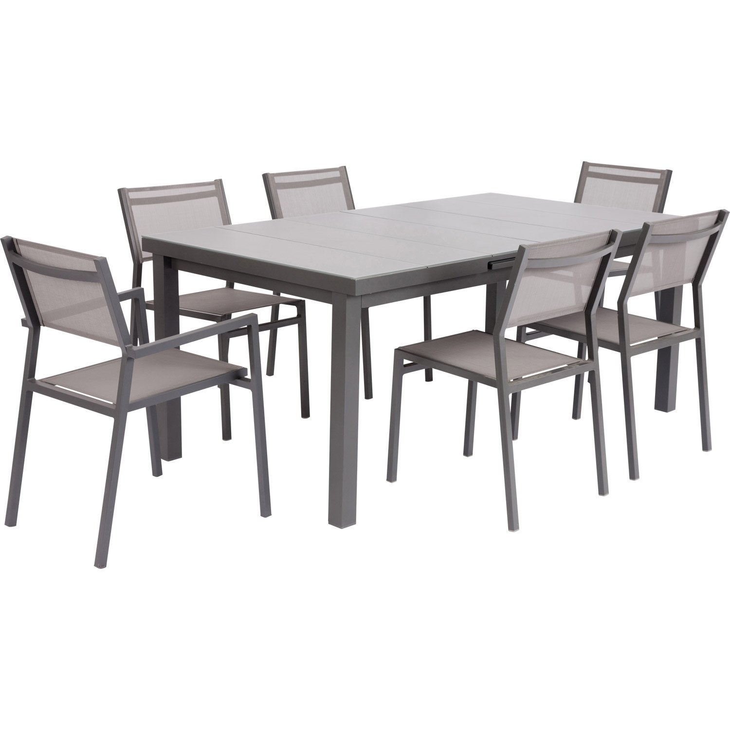 Table de jardin naterial niagara rectangulaire gris 10 personnes leroy merlin - Leroy merlin table jardin ...