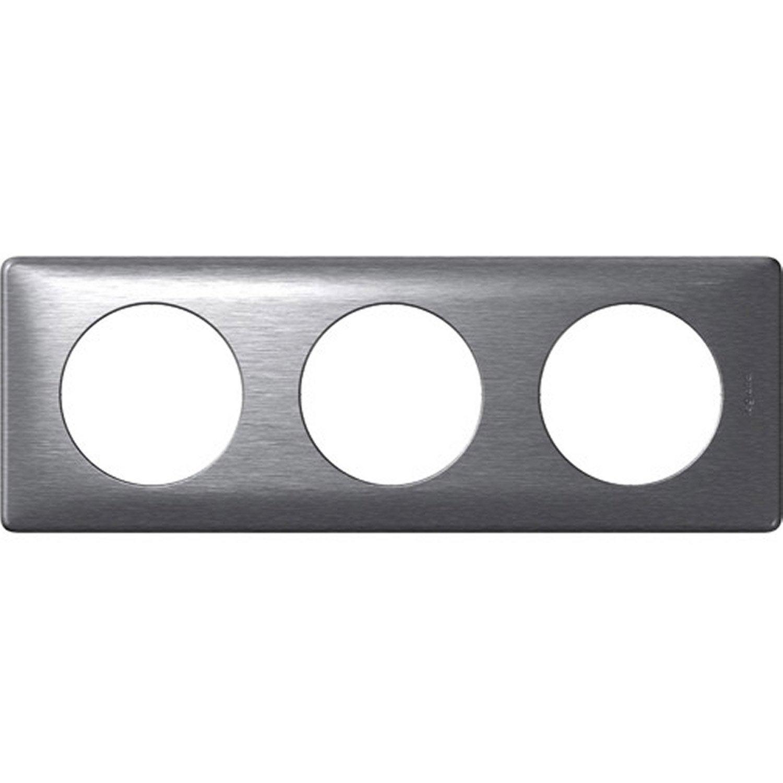Plaque triple c liane legrand aluminium leroy merlin - Plaque aluminium leroy merlin ...