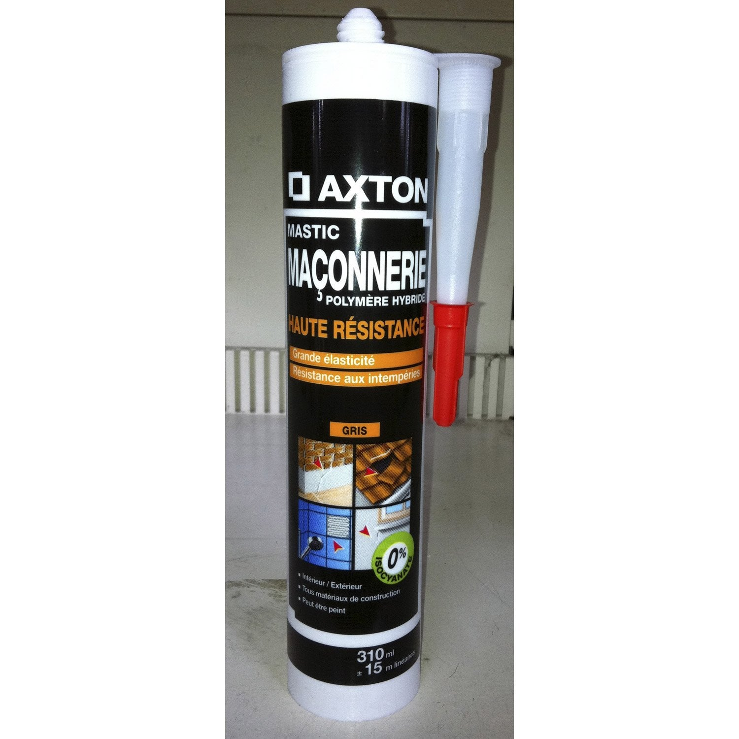 mastic axton 310 ml gris leroy merlin. Black Bedroom Furniture Sets. Home Design Ideas