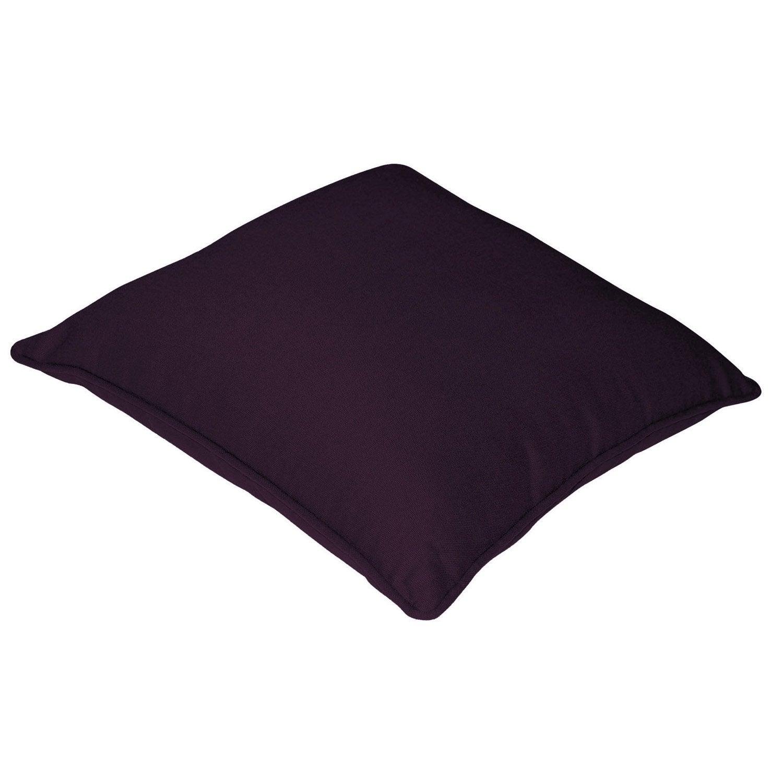 Housse de coussin cl a inspire violet aubergine n 1 - Housse de coussin violet ...