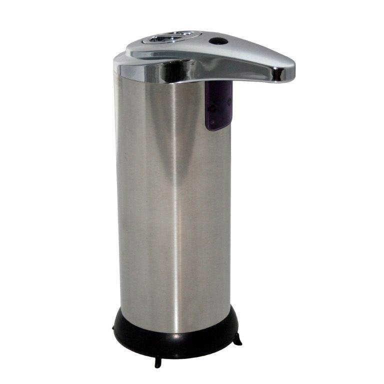 Distributeur de savon automatique inox chrom leroy merlin for Distributeur de savon liquide mural automatique