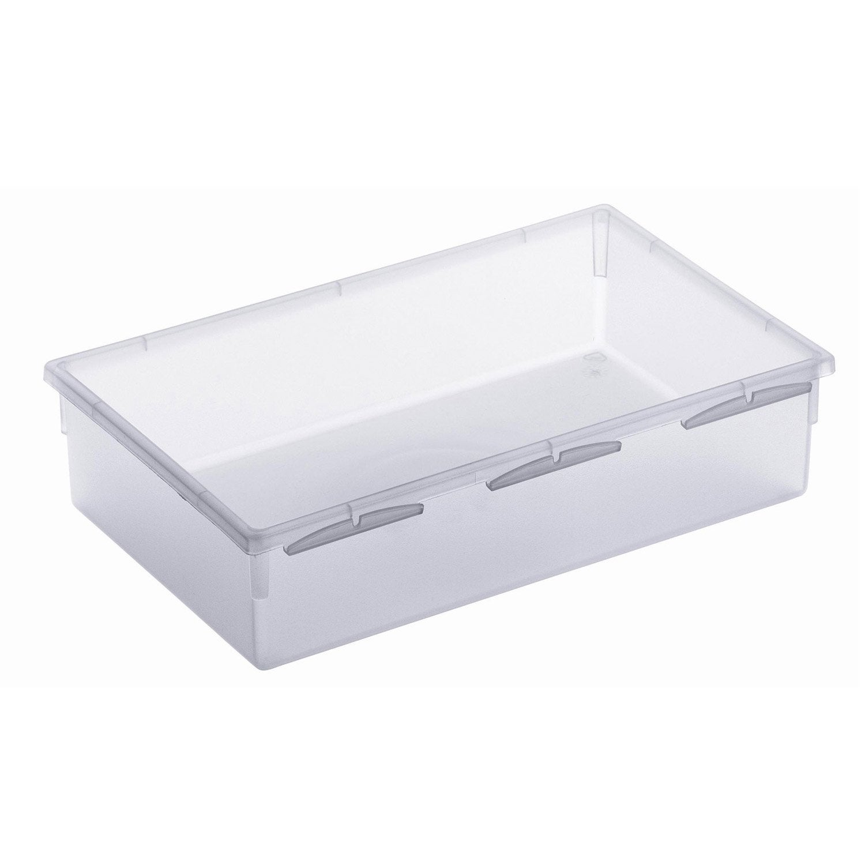 Organiseur de tiroir transparent largeur 15 cm leroy merlin for Organiseur tiroir cuisine