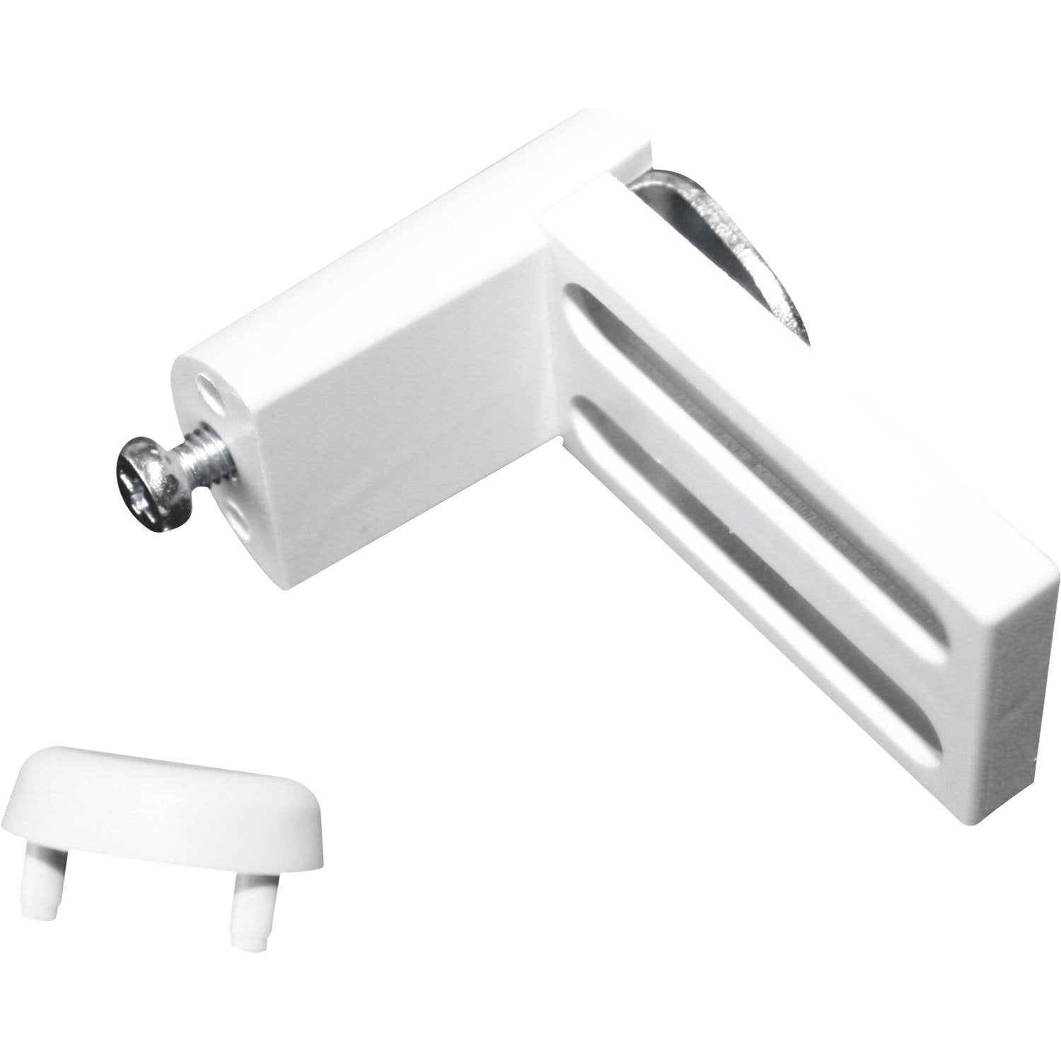 Lot de 2 supports de fixation sans per age blanc pour tout for Fixation murale sans trou