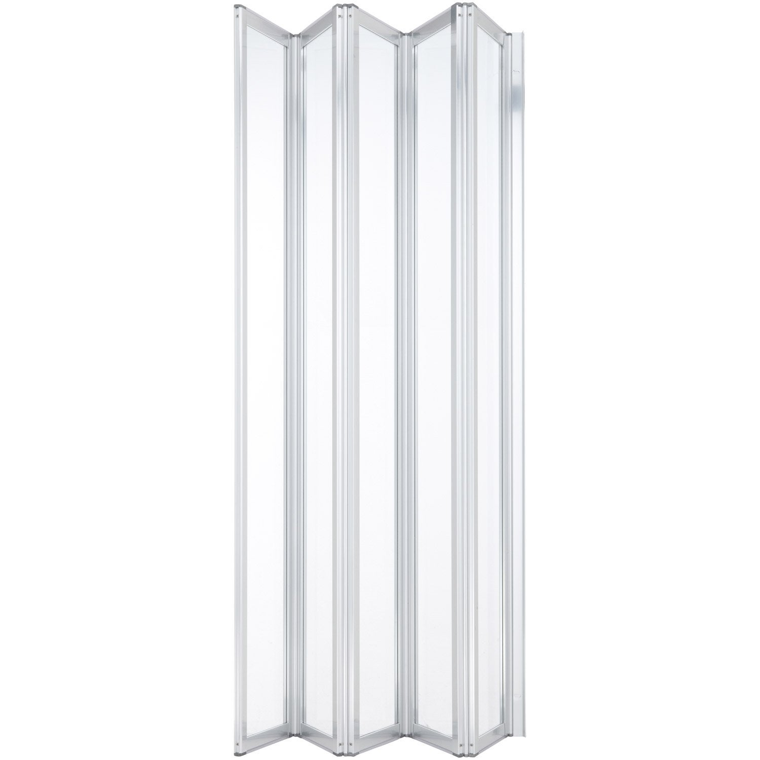 Pare baignoire 5 volets verre de s curit 3 mm transparent for Porte accordeon pour douche