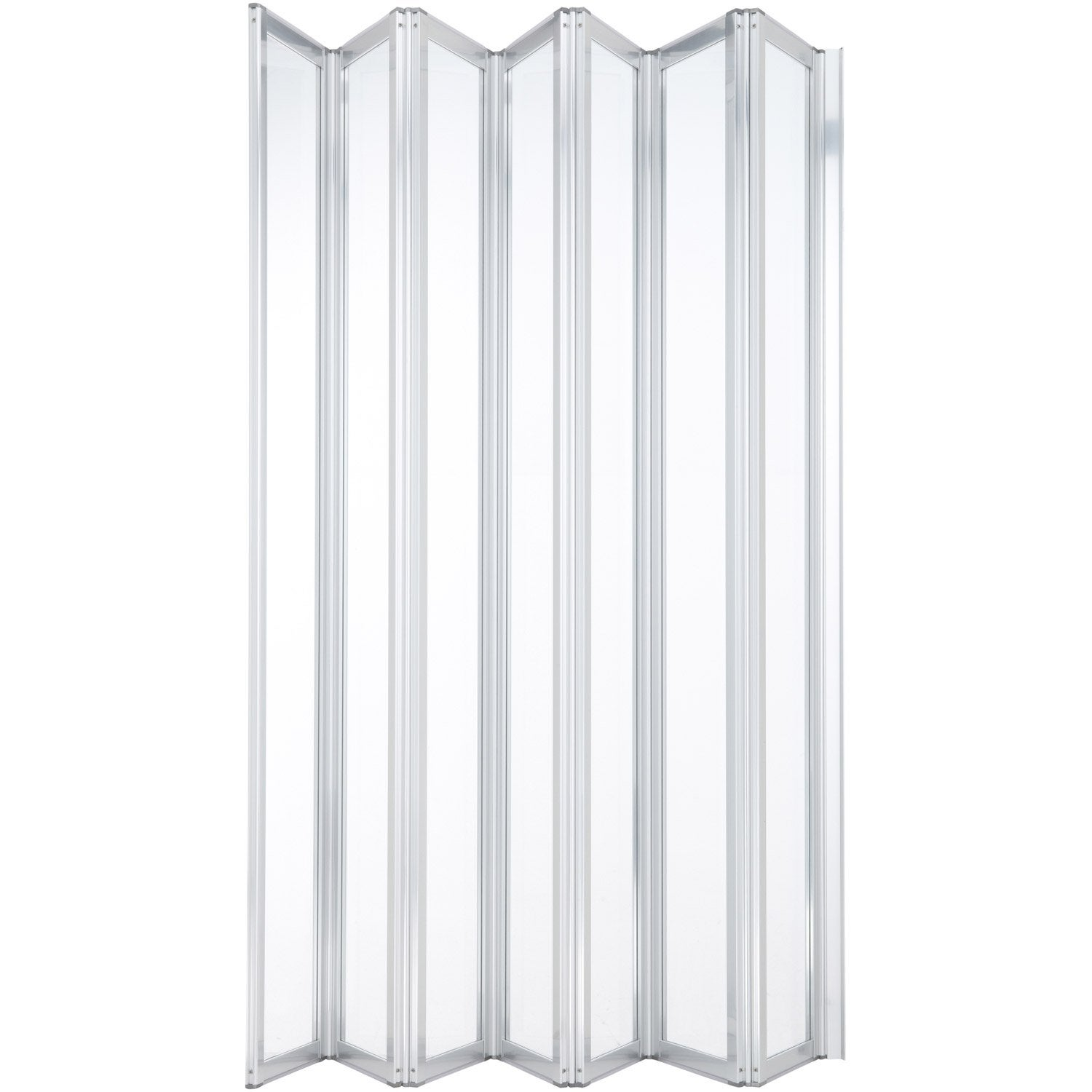 Pare baignoire 7 volets verre de s curit 3 mm transparent for Porte accordeon pour douche