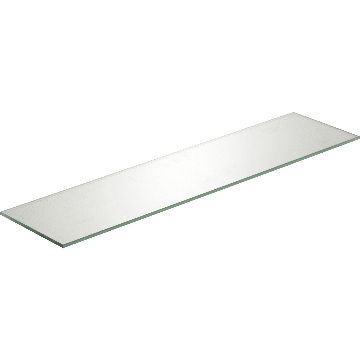 Etag re murale verre transparent l 60 x p 15 cm ep 6 mm - Tablette verre leroy merlin ...