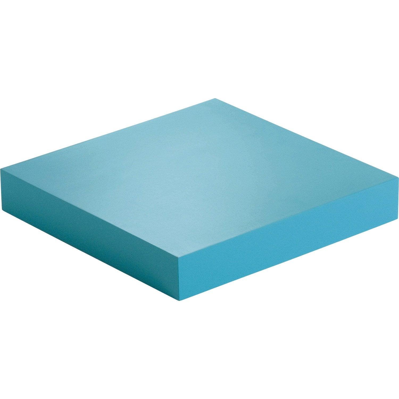 Etag re murale bleu atoll n 4 spaceo l 23 5 x p 23 5 cm - Leroy merlin etageres murales ...
