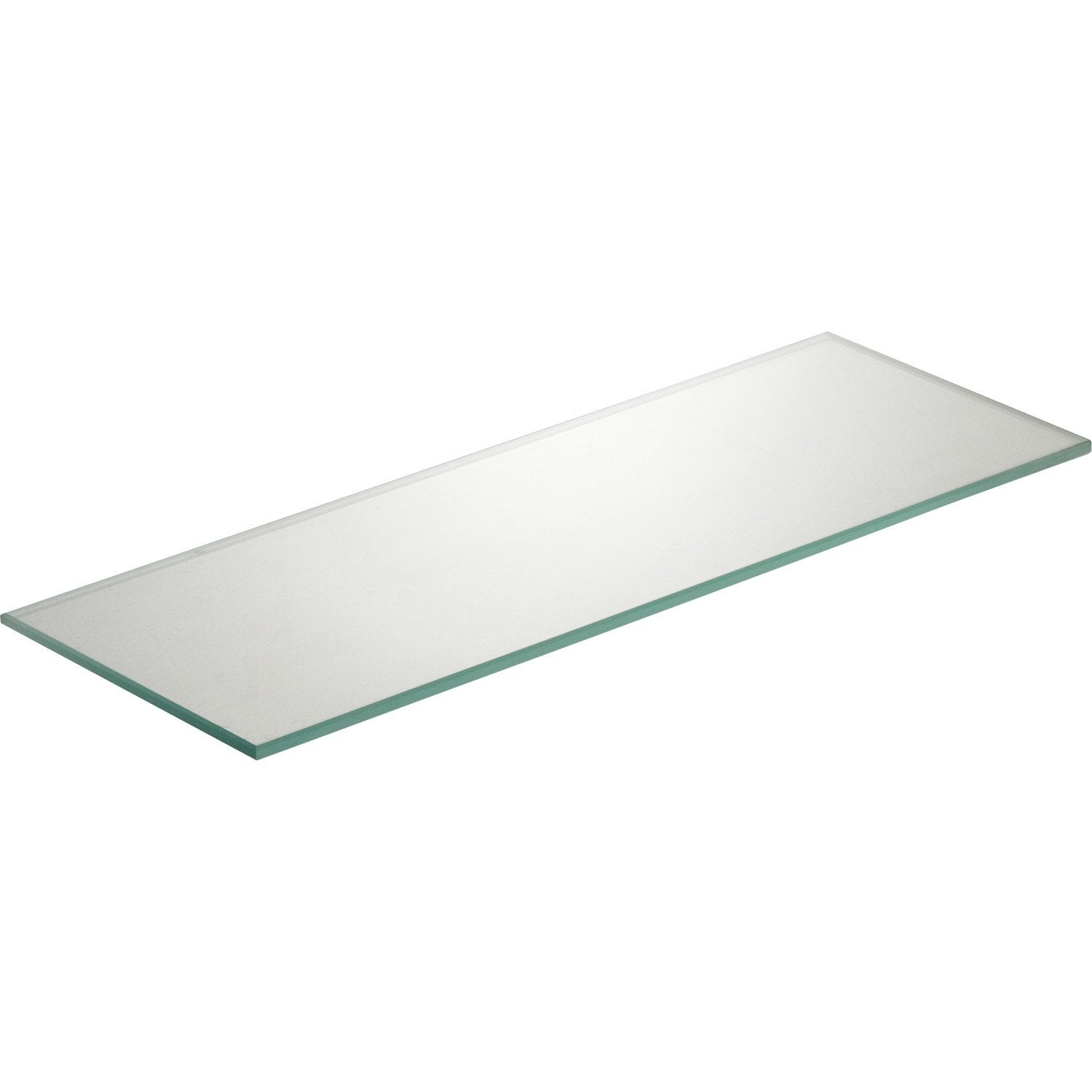 Etag re murale verre transparent l 40 x p 15 cm ep 6 mm for Plaque anti eclaboussure cuisine murale