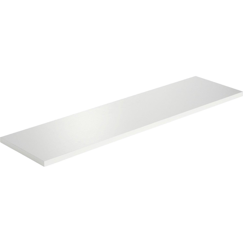 Etag re murale blanc white spaceo l 90 x p 23 5 cm p - Leroy merlin etagere murale ...