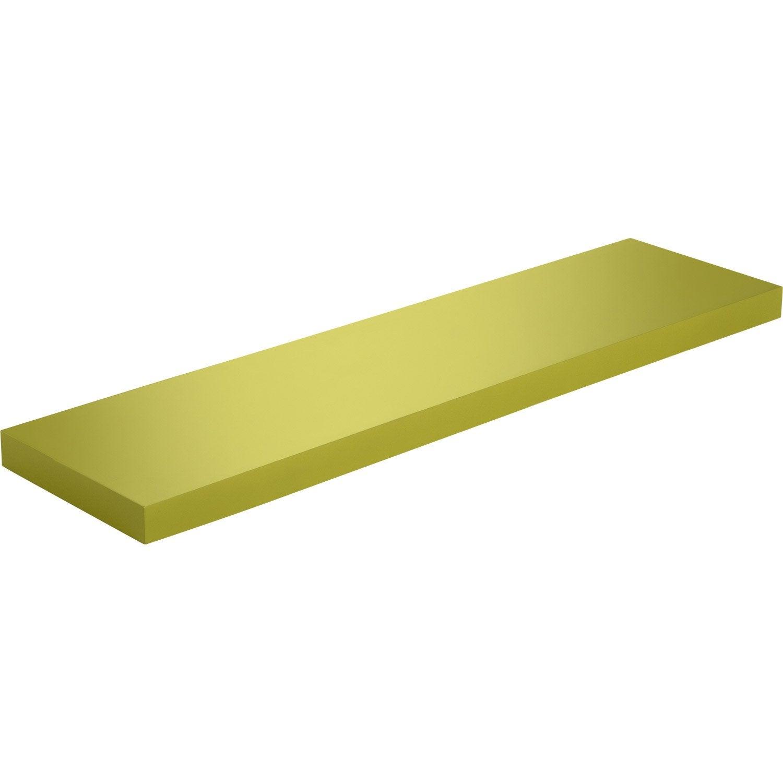 Etagere Murale Jaune : etag re murale jaune anis n 3 spaceo l 90 x p 23 5 cm mm leroy merlin ~ Teatrodelosmanantiales.com Idées de Décoration