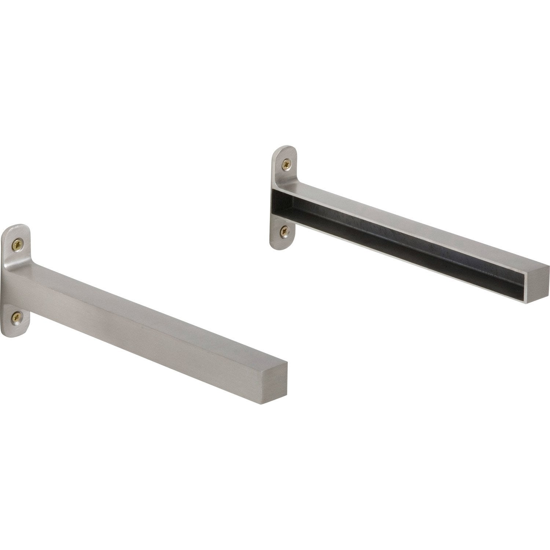Raccord 2 tag res aluminium inox x l 2 cm leroy merlin - Leroy merlin etageres metalliques ...