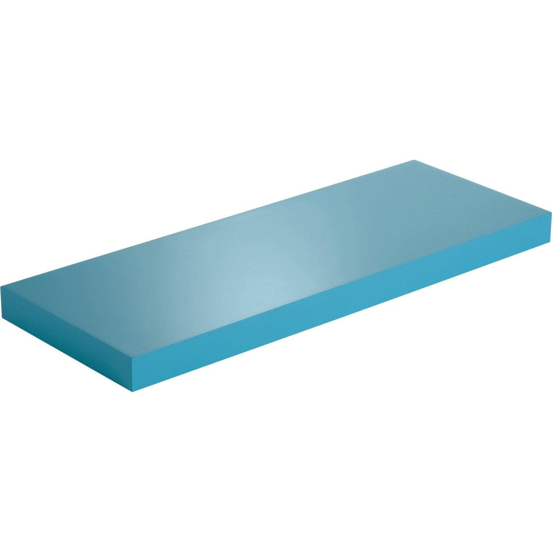 Etag re murale bleu atoll n 4 color spaceo l 60 x p 23 5 - Leroy merlin etageres murales ...