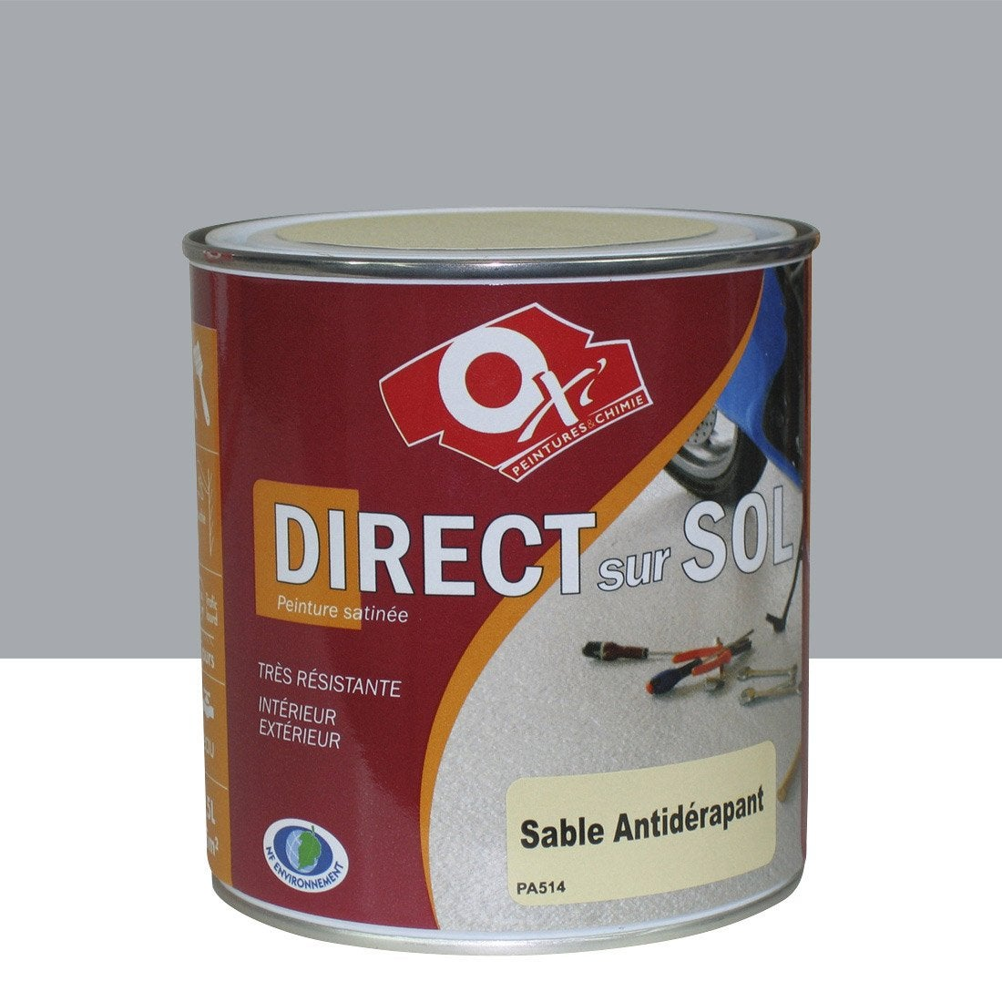 Peinture sol ext rieur int rieur antid rapante oxytol gris 0 5 l leroy merlin for Peinture carrelage exterieur
