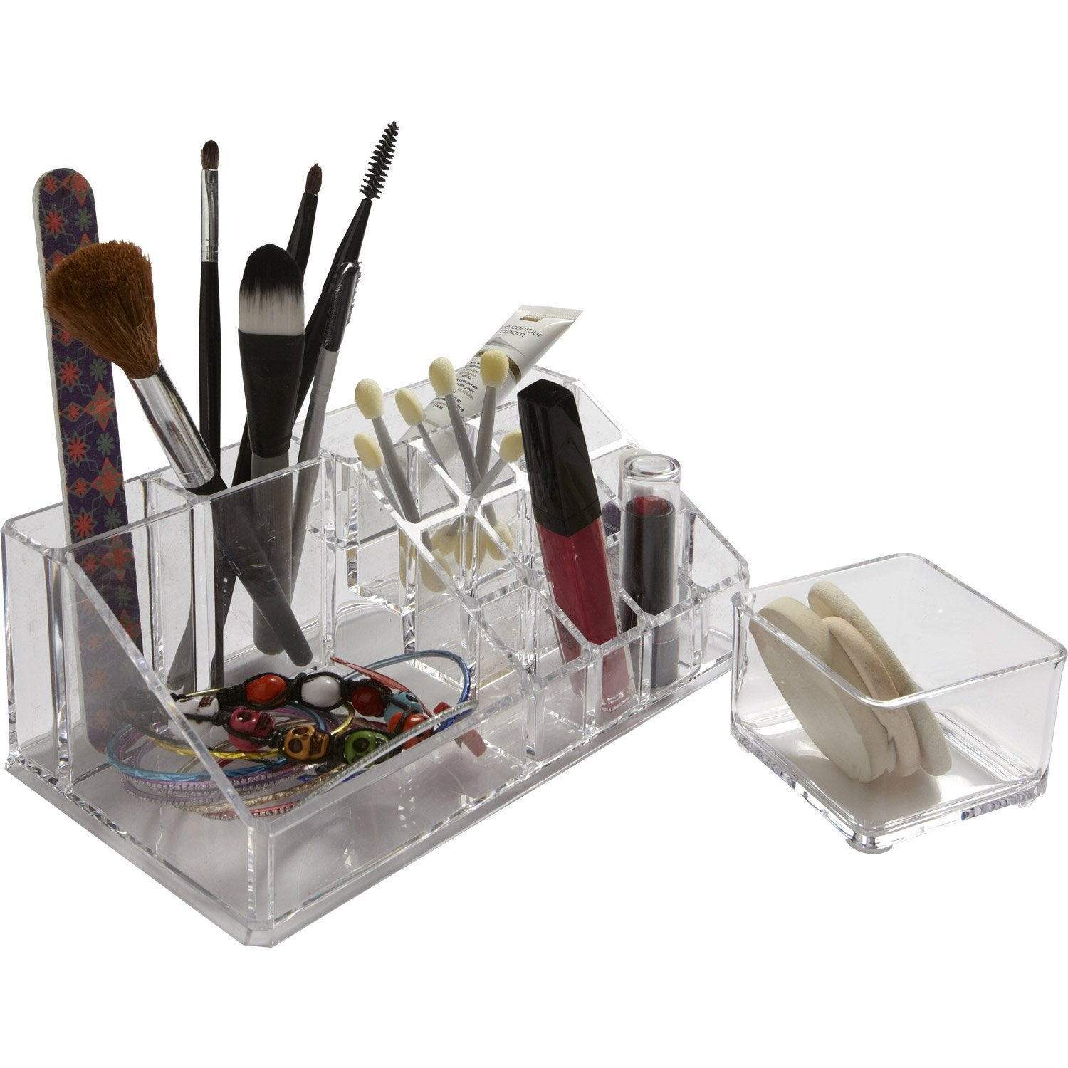 Organiseur En Plastique Transparent Beauty Leroy Merlin