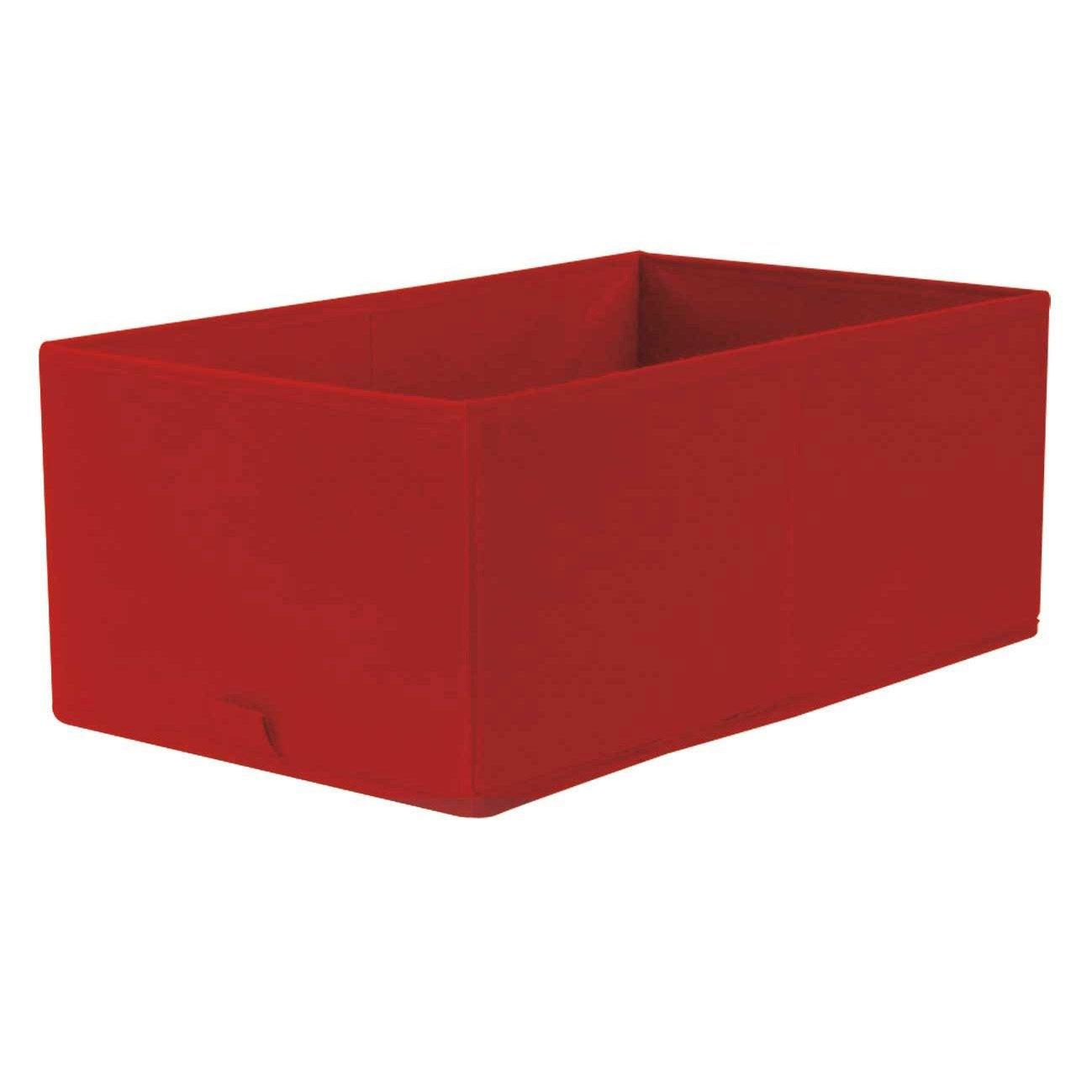Panier de rangement spaceo rouge x x cm - Panier rangement leroy merlin ...