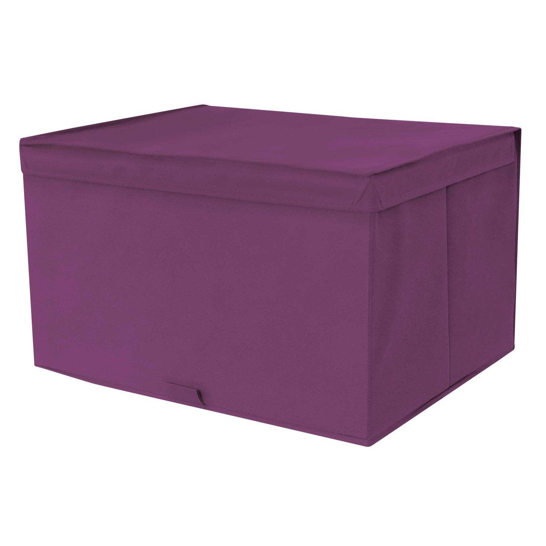 bo te de rangement spaceo violet x x cm leroy merlin. Black Bedroom Furniture Sets. Home Design Ideas