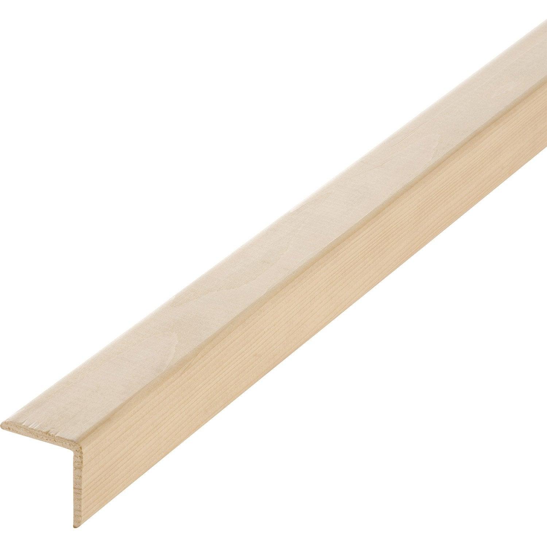 Baguette d 39 angle sapin sans noeud 47 x 47 mm l 2 5 m - Angle carrelage sans baguette ...