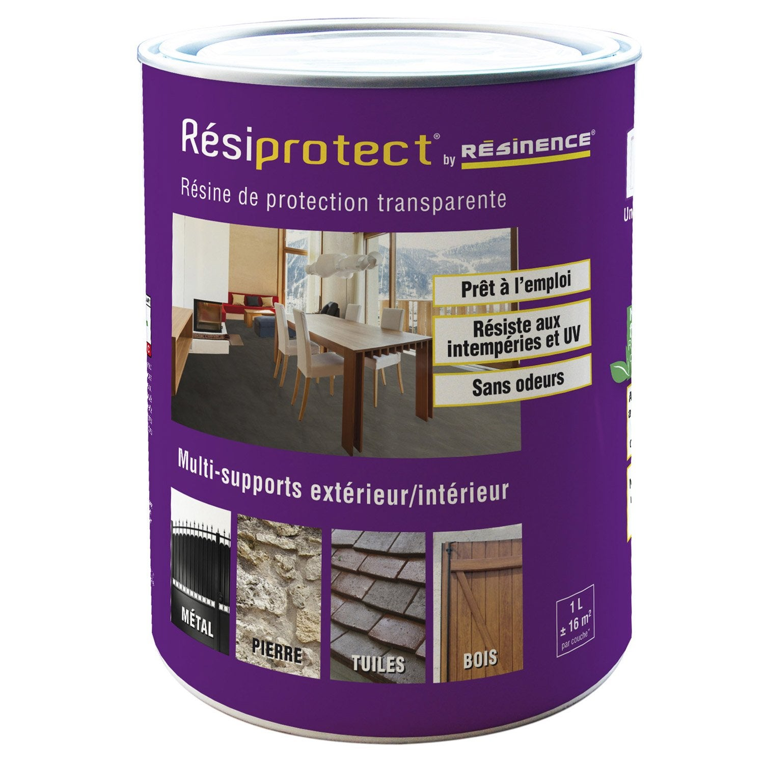 R sine tanch it r siprotect resinence transparent 1l leroy merlin - Resine de coulee transparente ...