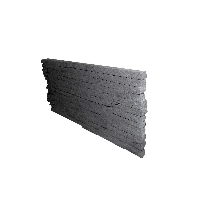 8 fins de mur b ton gris carena leroy merlin. Black Bedroom Furniture Sets. Home Design Ideas