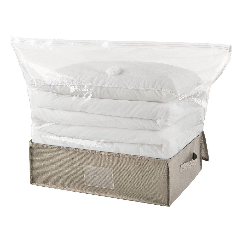 housse de rangement spaceo gris x x cm. Black Bedroom Furniture Sets. Home Design Ideas
