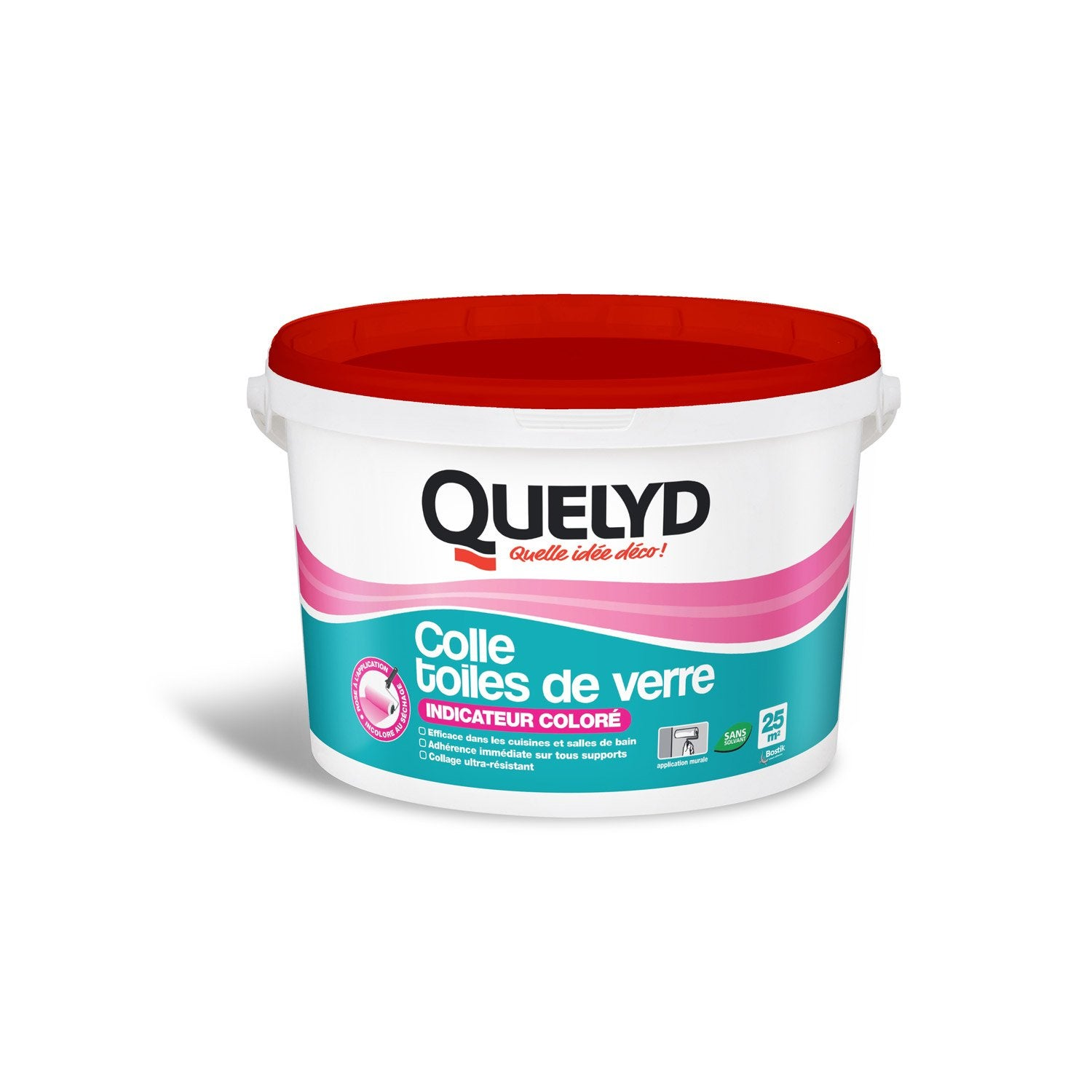 Colle toile de verre quelyd 5 kg leroy merlin for Decoller toile de verre
