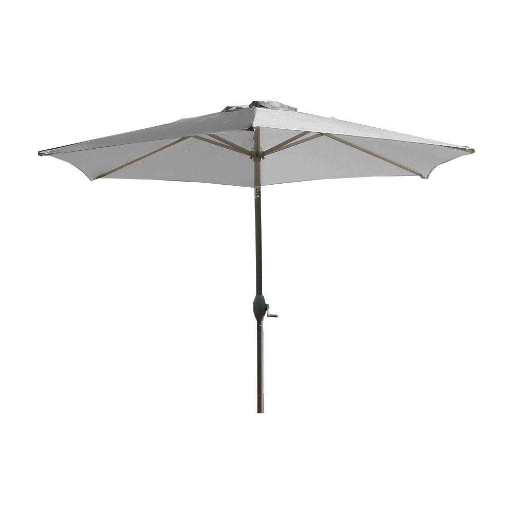 Parasol droit marbella gris galet rond x cm leroy merlin - Rode leroy merlin parasol ...