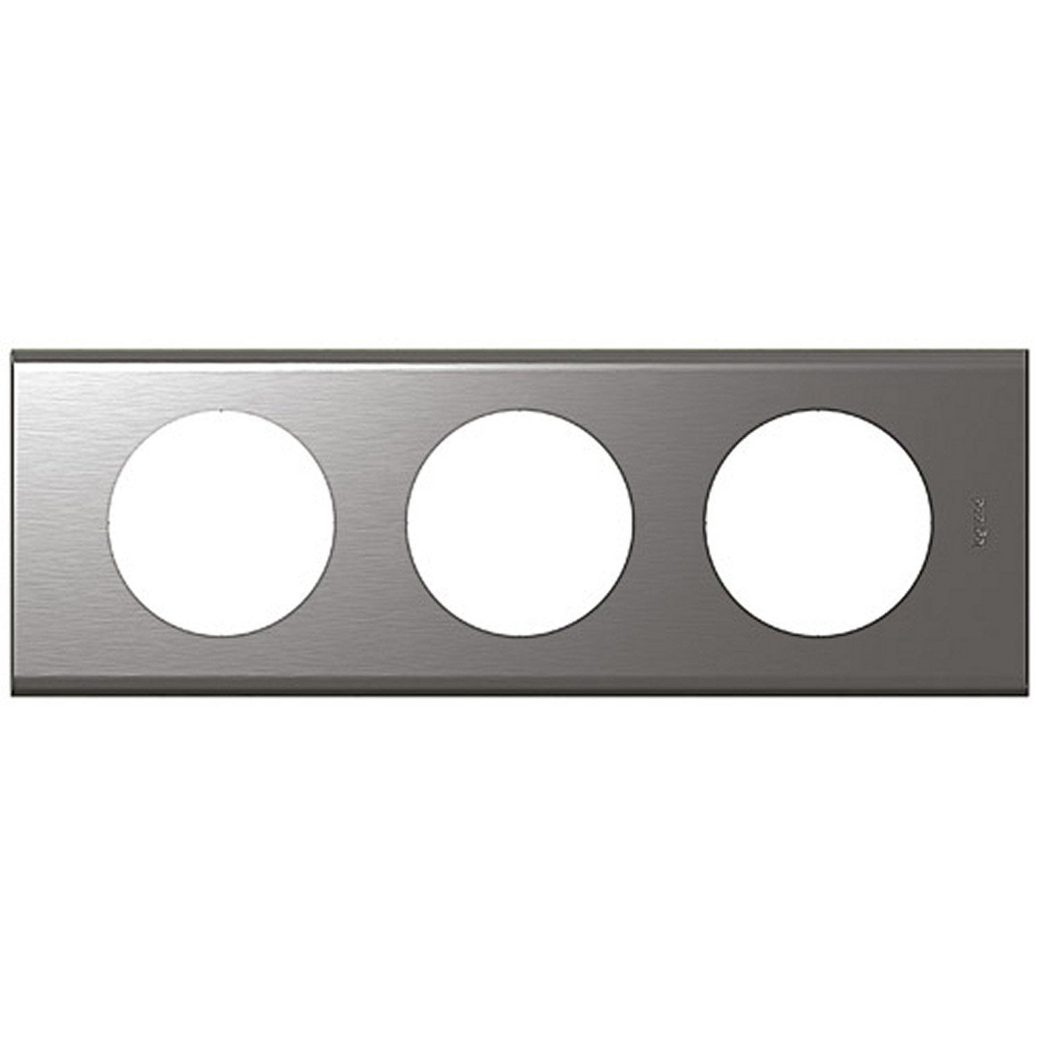 Plaque c liane legrand inox bross brillant leroy merlin - Plaque inox leroy merlin ...