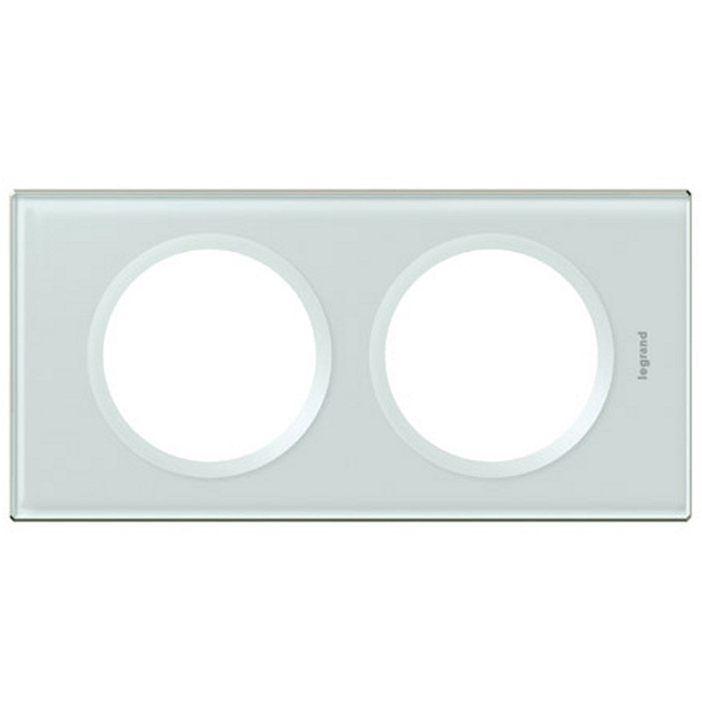 plaque double c liane legrand kaolin leroy merlin. Black Bedroom Furniture Sets. Home Design Ideas