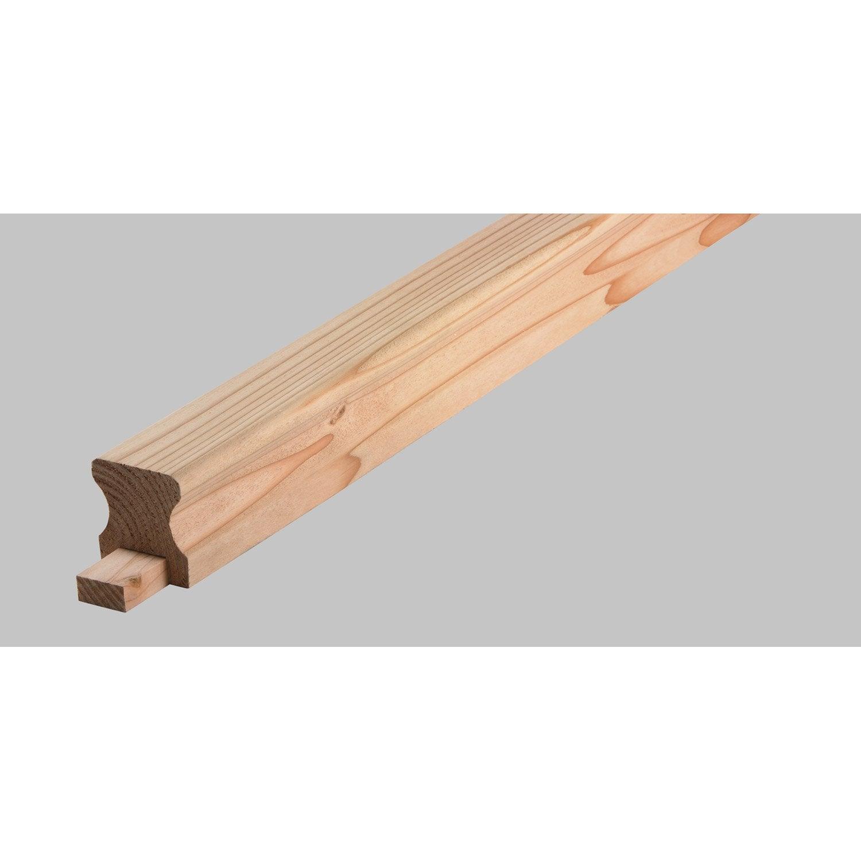 lisse barri re douglas petits noeuds rabot 60x54 mm long 250cm leroy merlin. Black Bedroom Furniture Sets. Home Design Ideas