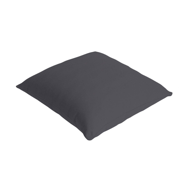 coussin bachet gris galet n 1 40 x 40 cm leroy merlin. Black Bedroom Furniture Sets. Home Design Ideas