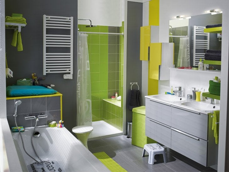 Optimiser l 39 espace leroy merlin for Idee salle de bain leroy merlin