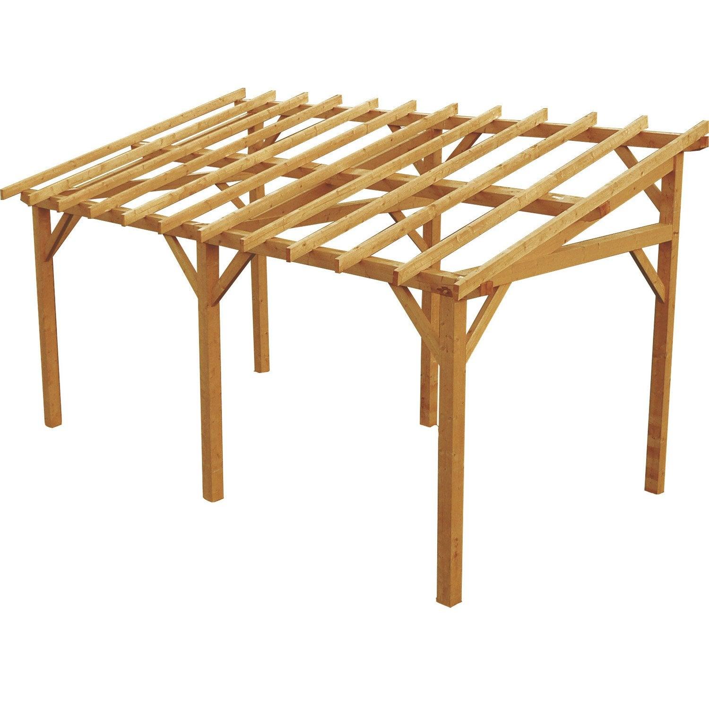 Plan carport bois pour camping car - Montage carport bois ...