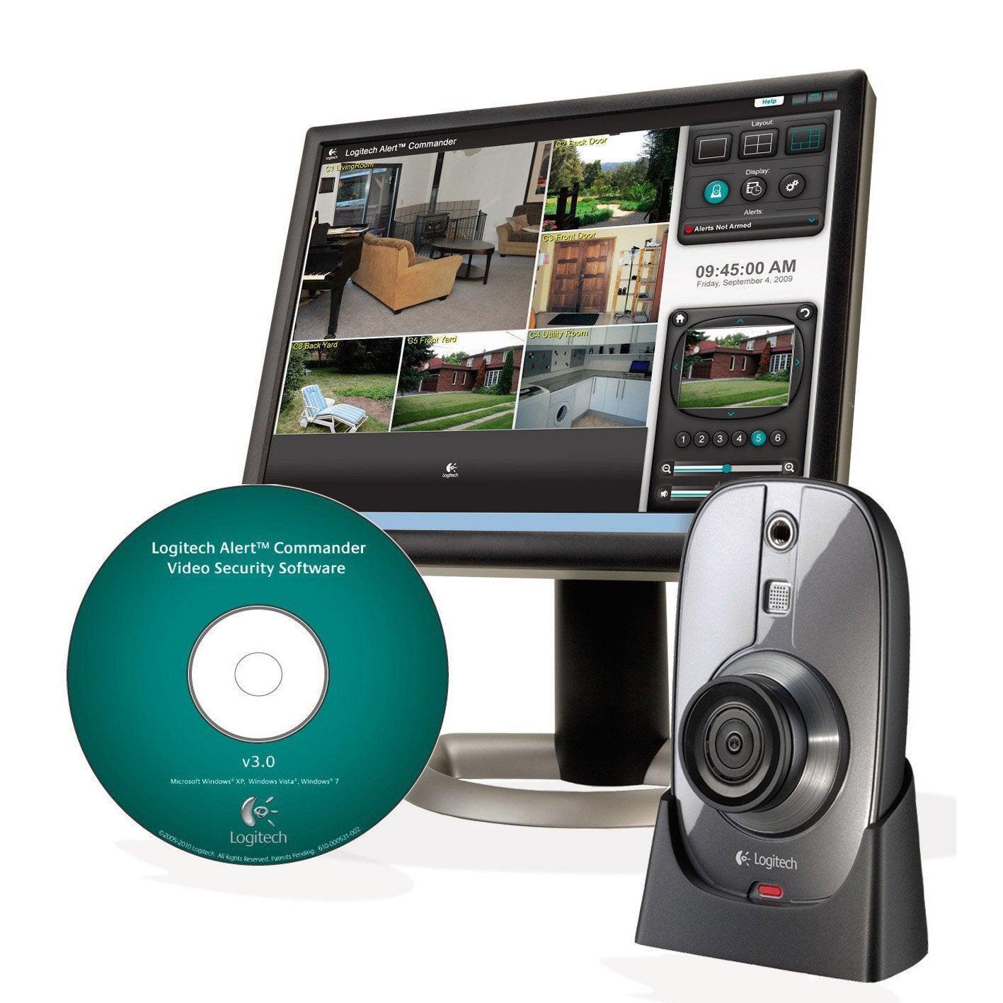 kit de vid osurveillance filaire logitech 961 000379 leroy merlin. Black Bedroom Furniture Sets. Home Design Ideas